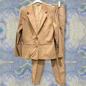 Vintage Wrangler corduroy 2 pc pants suit